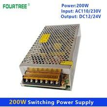 200W Schalt Netzteil Licht Transformator AC 110V 220V Zu DC 12V/16,5 A 24V/9,5 A Netzteil Quelle Adapter S-200-12V/24V