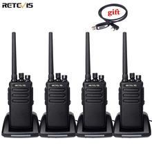 Dmr rádio de alta potência digital walkie talkie 4pcs retevis rt81 à prova dip67 água ip67 uhf vox presunto transceptor para fazenda fábrica armazém