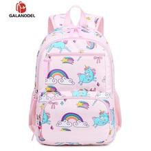 Cartoon Cute Animal Bag Unicorn Multi-pocket Multi-function Double Backpack USB Interface Design Girls School Bags