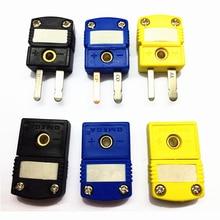 K T J type sockets sensor US type Male Female thermocouple miniature socket plug connector tes 1312a k type thermocouple thermometer new tes1312a