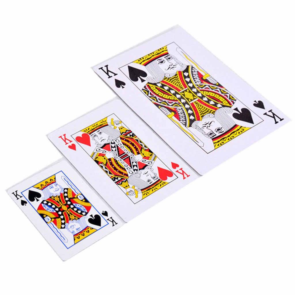 52 قطعة أوراق اللعب العملاقة جامبو بوكر في الهواء الطلق ماجيك الأسرة بطاقة الألعاب