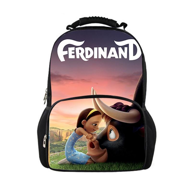 HaoYun Large Capacity Felt Backpack Ferdinands Pattern Students School Bags Cartoon Anime Design Teenagers Book-Bags Mochila