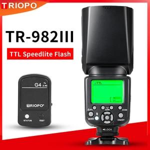 Image 1 - TRIOPO TR 982III TR 982 III 2.4G اللاسلكية GN58 TTL 1/8000 HSS ماستر الرقيق كاميرات فلاش Speedlite لكانون نيكون