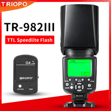 TRIOPO TR 982III TR 982 III 2.4G Wireless GN58 TTL 1/8000 HSS Master Slave Cameras Flash Speedlite for Nikon Canon