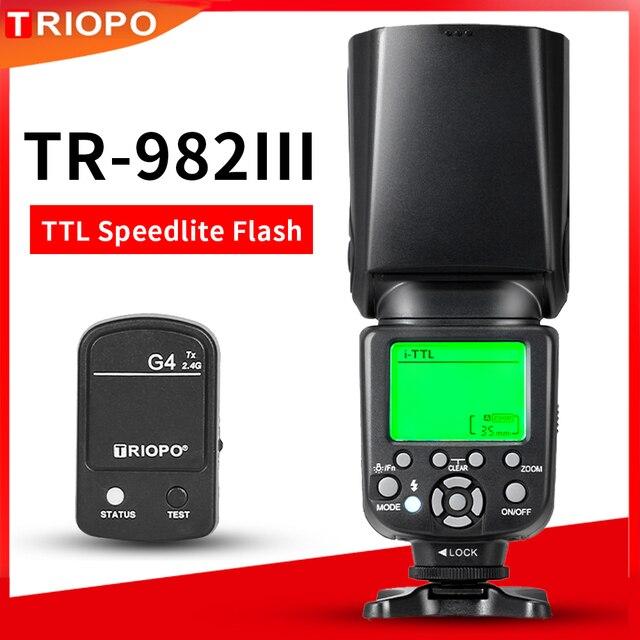 TRIOPO TR 982III TR 982 III 2.4G Wireless GN58 TTL 1/8000 HSS Master Slave Cameras Flash Speedlite for Nikon Canon