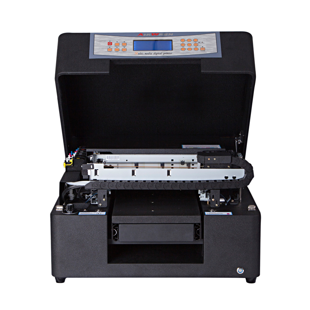 Full Automatic UV Printer A4 UV Led Flatbed  Printer For Phone Case Metal Wood Glass Printing