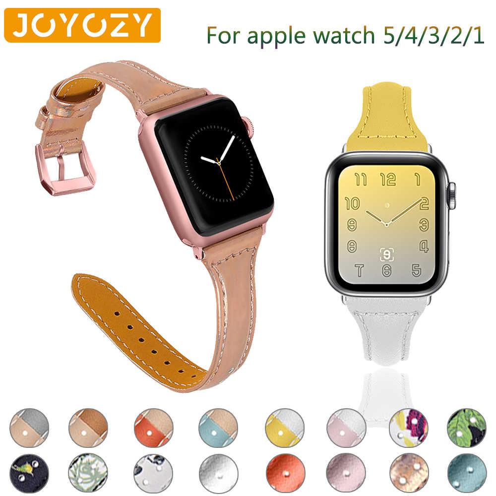 Joyozy الطباعة بلون رائعة ل apple watch سلسلة 5/4/3/2/1 حزام حزام جلد ل iWatch حزام 38 مللي متر 40 مللي متر 42 مللي متر 44 مللي متر