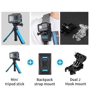 Image 5 - TELESIN Quick Release Shoulder Strap Mount with dual head J hook Backpack Pad Holder for GoPro Hero 7 6 5 SJCAM EKEN OSMO ACTION