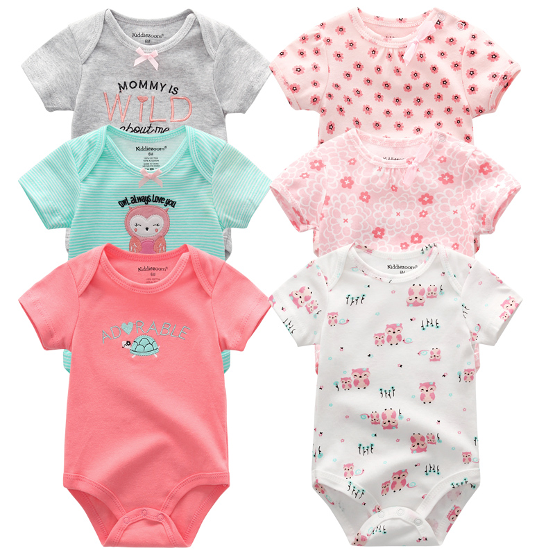 Baby clothes sets 2020 short sleeve baby rompers Fashion Newborn Jumpsuits infant baby girl outfit Roupas de bebe clothing