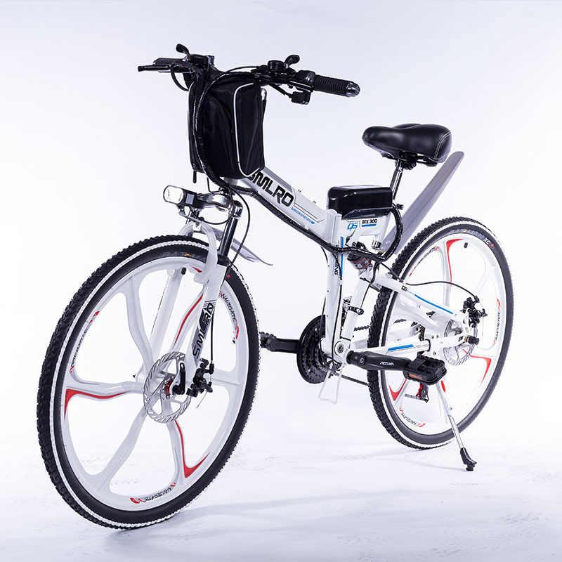 Электрический велосипед YTL, 21 скорость, 48 В, 10 Ач батарея с дисплеем на руле, 26-дюймовое встроенное колесо
