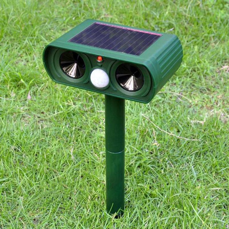 1PC Ultrasonic Solar Animal Repellent Pest Repeller Solar Powered Waterproof For Outdoor Garden Repelling Mouse Pest Bug