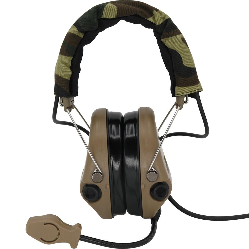 Купить с кэшбэком Tactical Airsoft Sordin Headset Hunting Shooting Headphone Military Pickup Noise Reduction Hear protection Earmuff+U94 2 Pin ptt