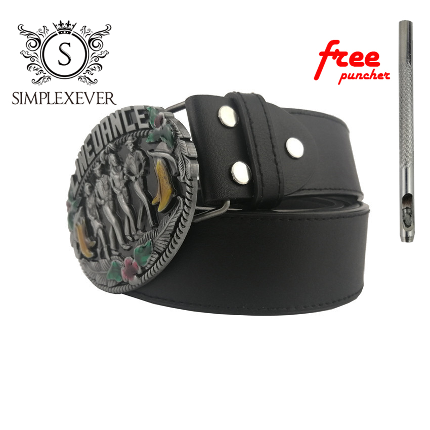 Drop Shipping Fashion Metal Cowboy Belt Buckle Music Men's Belt Buckle With Leather Belt