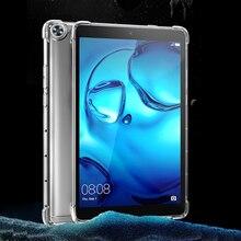 Противоударный силиконовый чехол для Huawei MediaPad T3 T5 7,0 8,0 9,6 10, 3G, с функцией AGS2-W09 прозрачный резиновый чехол-накладка гибкий бампер