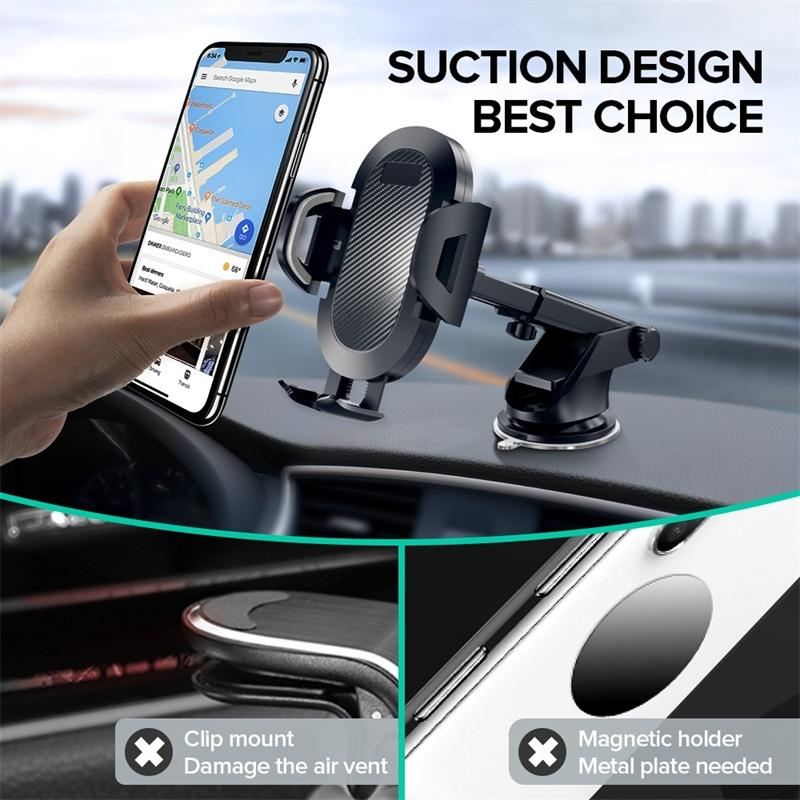 Sucker Car Phone Holder Mobile Phone Holder Stand In Car No Magnetic GPS Mount Support For IPhone 11 Pro Xiaomi Samsung