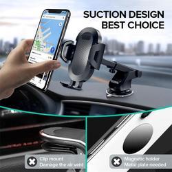 Uchwyt samochodowy na telefon Sucker uchwyt na telefon komórkowy stojak w samochodzie nie magnetyczny uchwyt do montażu GPS dla iPhone 11 Pro Xiaomi Samsung