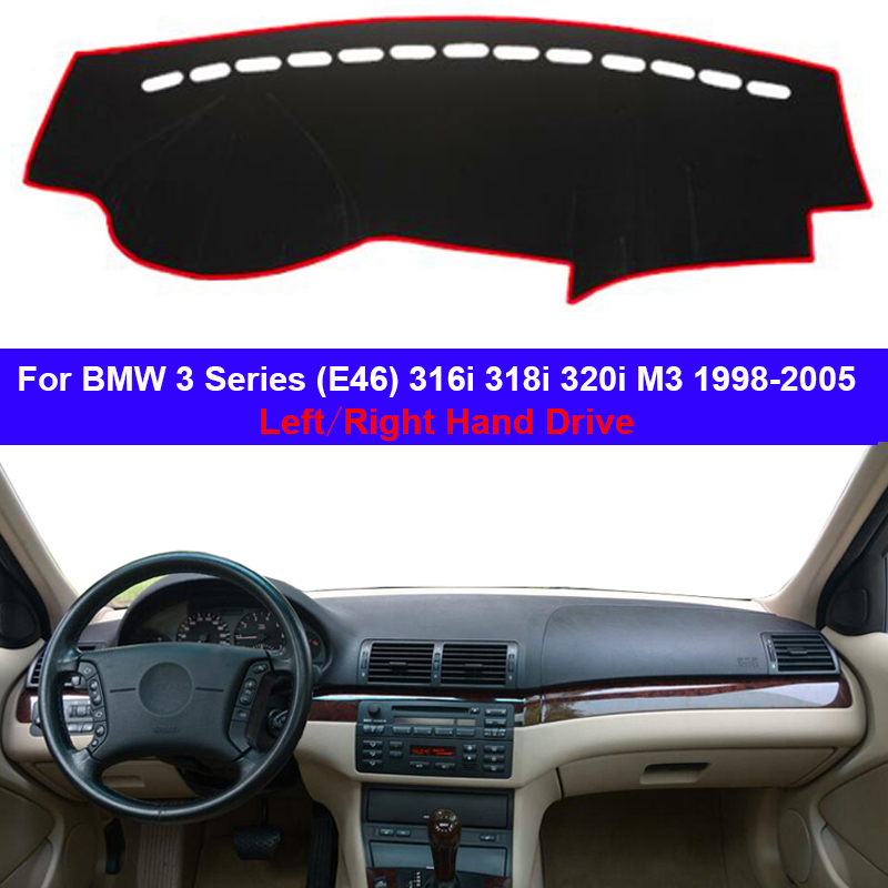 Car Dashboard Cover Dashmat  Carpet Dash Mat 2 Layers For BMW 3 Series E46 316i 318i 320i M3 1998- 2000 2001 2002 2003 2004 2005