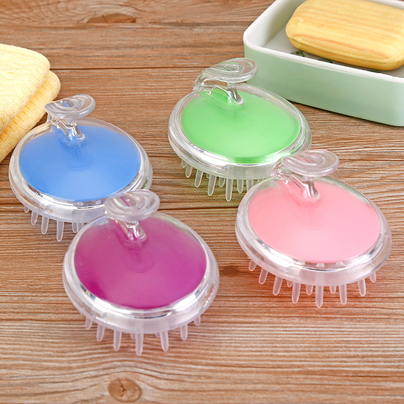 Silicone Soft Massager Brushes Head Hair Washing Scalp Shampoo Air Brush Comb Cleaning Care Tool Healthy Reduce Hair Loss