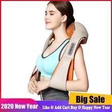 Cargador de coche para hogar eléctrico, masajeador corporal para la espalda, cuello, hombros, anticelulitis, acupresión Shiatsu, 2 artículos a elegir
