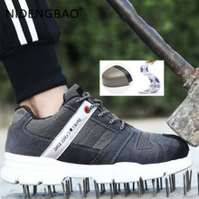 Men Shoes Breathable Sport Running Mesh Sneakers Steel Toe Labor Insurance Women Safety Work Size 35-47