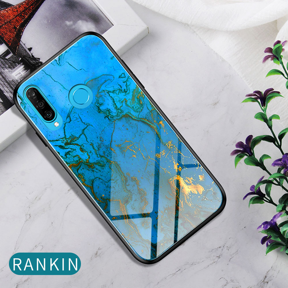 H96b9e1bf72b74610979a13f6dc4d773as Phone Case for Huawei Honor 20s 20 Case Marble Tempered Glass Soft Tpu Frame Back Case for Huawei Honor 20s Honor 20 Pro Case