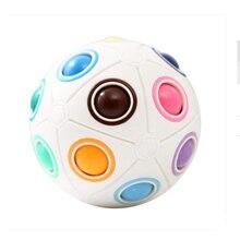 Пазл Детские эластичные игрушки Кубик Рубика волшебный Радужный шар креативный Пальчиковый футбол