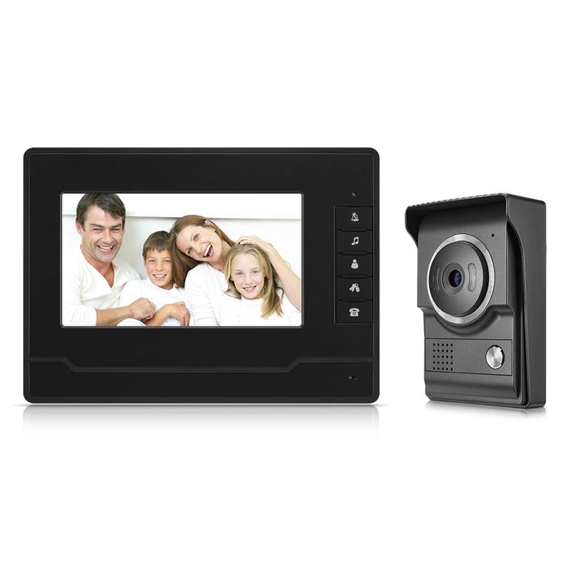 Smart Doorbell 7 Inches TFT/LCD HD Waterproof Wired Video Intercom Doorbell Infrared Night Vision Doorphone US Plug