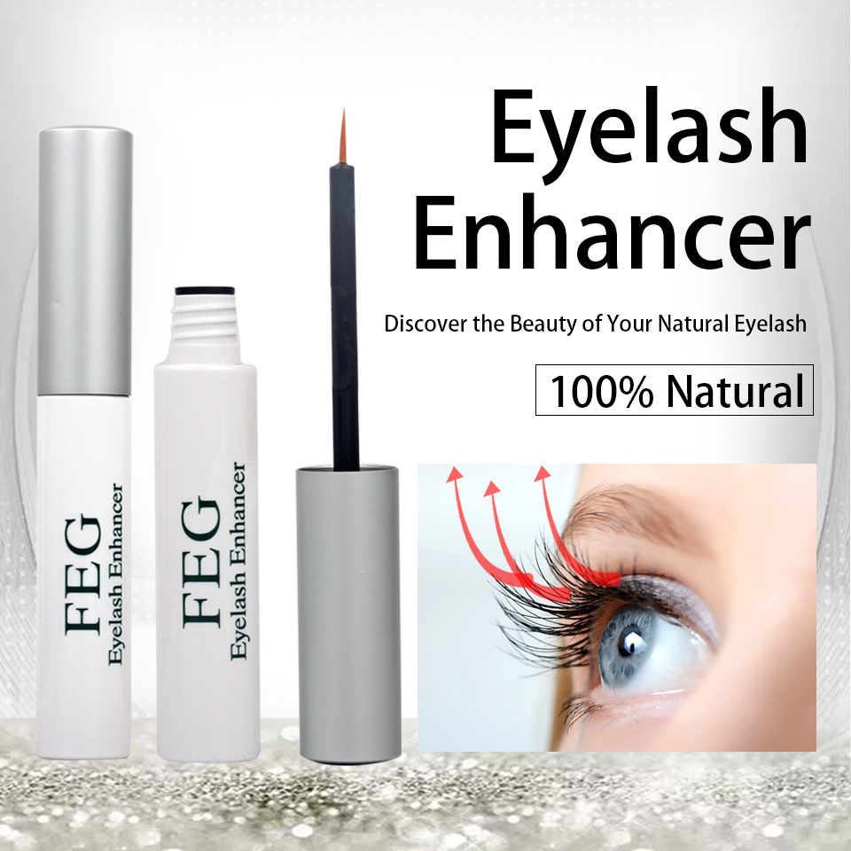 NEWCOME 100% Original FEG Eyelash/Eyebrow Enhancer Eyebrow Eyelash Growth Serum Treatment Natural Incread Length Thick Eyelash