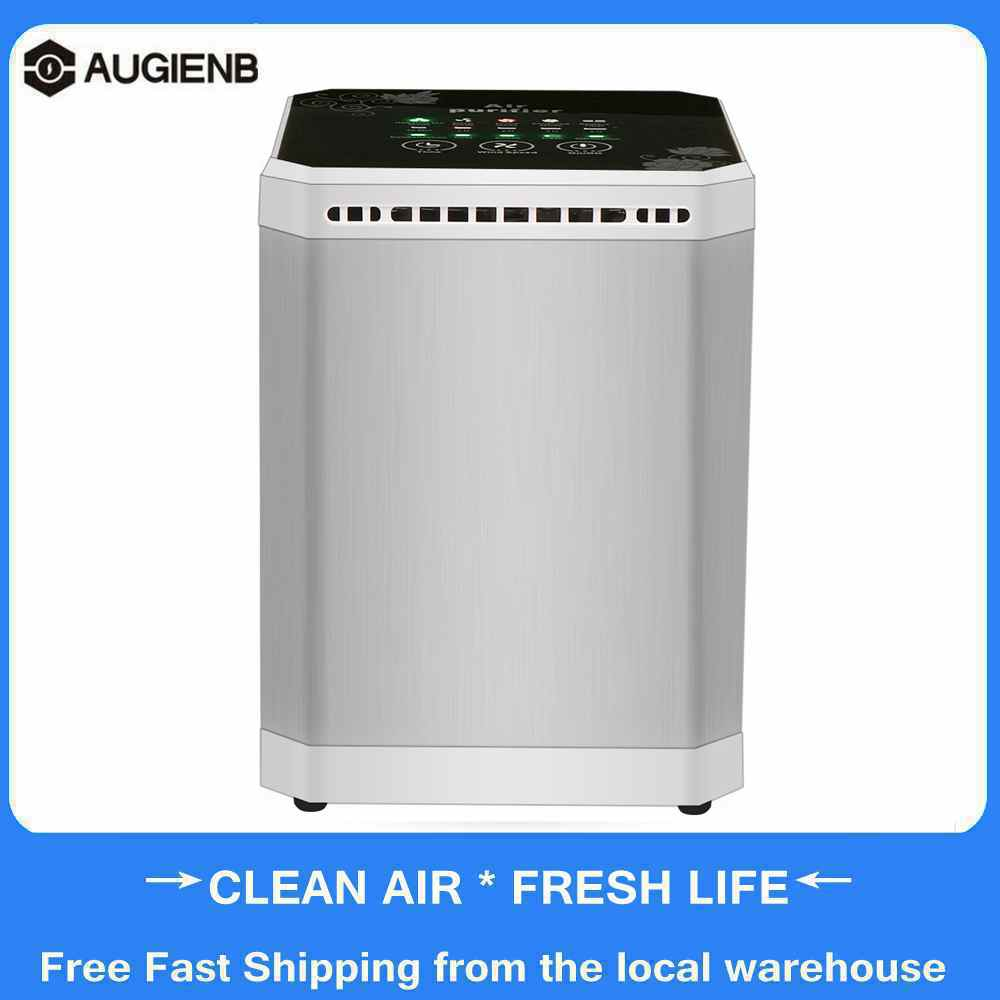 AUGIENB Mini Mulit-function Negative Ion Air Purifier With 3-in-1 Active Carbon Filter Fresh Air Desktop Air Cleaner For Home