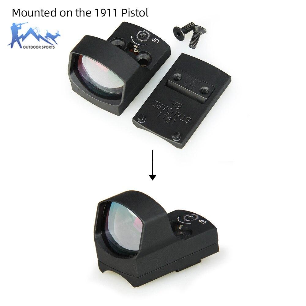 PPT kolimator red Dot zakres wiatrówki luneta airsoft 3MOA mikro Dot z odblaskowe wzroku zamontować fit 1911 G17 w optyka myśliwska OS2-0129