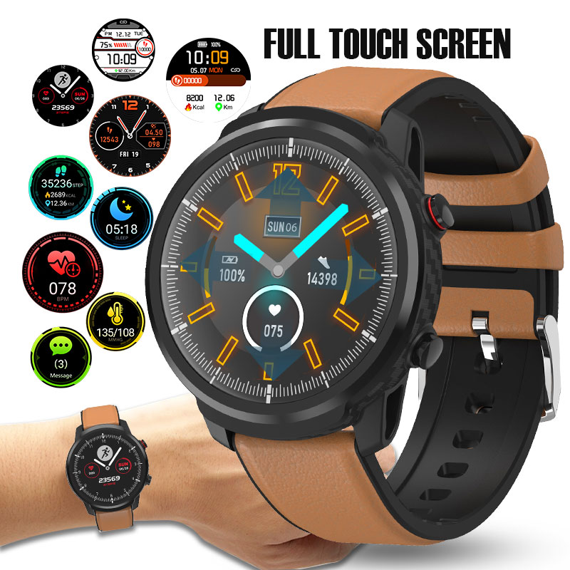 L3 Waterproof Smart Watch with Round Screen Heart Rate Pedometer and Call Message Reminder Smart Activity Tracker for Women Men 1