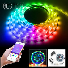 Bande lumineuse RGB Led intelligente, Bluetooth, adressable individuellement, ensemble complet de diodes, SMD, 5M 10M WS2811