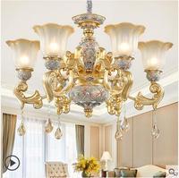 Europeu sala de estar luxo resina atmosférica lustre simples europeu villa luz da sala jantar quarto luxo lâmpada