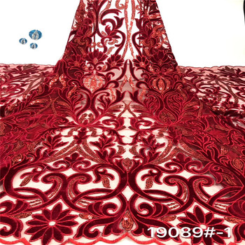 Madison African Velvet Lace Fabric Embroidered Nigerian French Lace Fabrics 2020 High Quality Lace Material For Dress