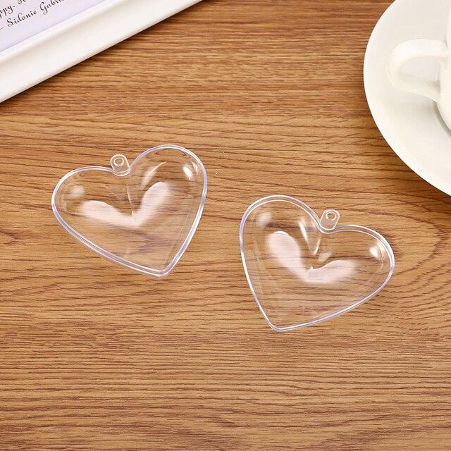 1/2 Set 65/80mm Heart Shape Bath Bomb Mold DIY Clear Plastic Bath Bomb Mould Acrylic Mold Bath Accessories DIY Chrisemas Xmas 3