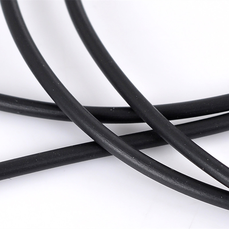8SEASONS Rubber Cord Black Hollow DIY Making Jewelry Findings 2.5mm,Hole:1 Mm,10M Length (B22223)