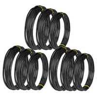 9 рулонов бонсай провода анодированный алюминиевый бонсай тренировочный провод с 3 размерами (1,0 мм, 1,5 мм, 2,0 мм), всего 147 футов (черный)