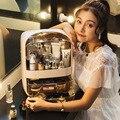Moda nova maquiagem organizador grande capacidade à prova dwaterproof água e dustproof banheiro caixa de armazenamento cosméticos desktop beleza gaveta armazenamento
