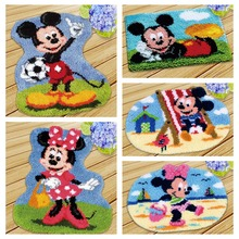Diy Foamiran for crafts carpet embroidery cartoon mouse latch hook rug kits needlework button package do it yourself foamiran rainbow flower cushion button package smyrna needle for carpet embroidery everything for handmade latch hook rug do it yourself