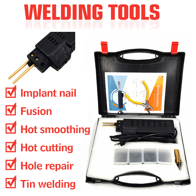 Car Bumper Repair Machine Hot Staplers Plastic Repair System Welding Gun Bumper Fairing Auto Body Tool Plastic Welder Staple