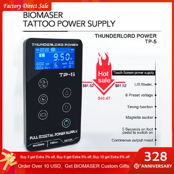 Tattoo Power Supply Tatuagem For Tattoo Machines Touch Screen Source TP-5 Digital LCD Makeup Dual Tattoo Power Supplies