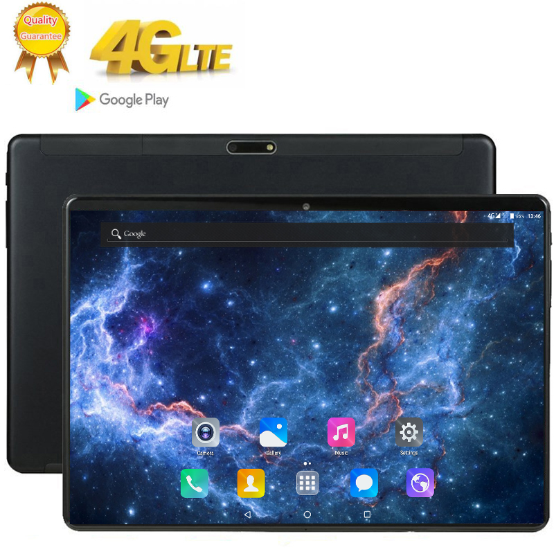 MTK6753 Tempered 2.5D Glass 4G FDD LTE 10 Inch Tablet Pc 8 Octa Core 3GB RAM 32GB ROM 1920*1200 IPS Screen WIFI Android 7.0 GPS