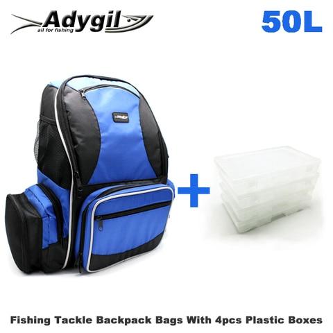 adygil pesca tackle back pack estacao com 4 caixas de utilidade media saco de