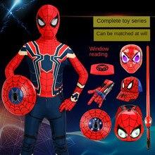 Mono de Spiderman de acero de Disney para niños, traje de actuación, medias especiales de Spider-Man, Patchwork, normal/minimalista