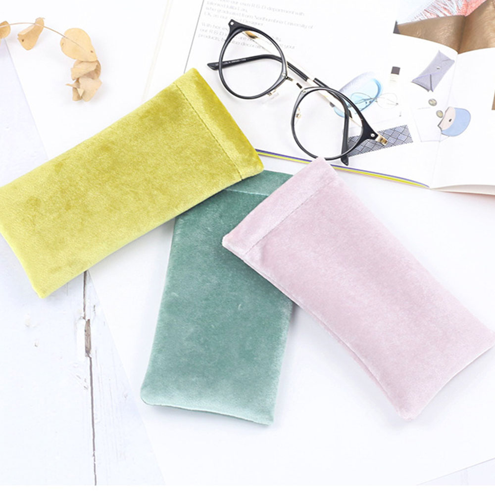 Sunglasses Fleece Bag Multi Solid Color Eyeglasses Protective Soft Cover Portable Container Case Durable Lentes Glasses Bag