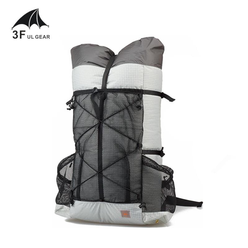 3F UL GEAR TUTOR 26L 38L Ultralight Backpack Outdoo Camping Hiking Waterproof Backpack UHMWPE Bags Frameless
