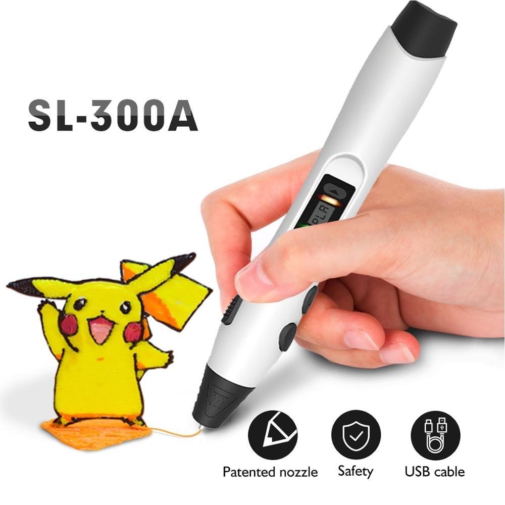 Ручка для 3d-печати KAIGE с поддержкой нити PLA/PCL 1,75 мм, детский карандаш для рисования «сделай сам», цифровой карандаш 1-8 дюймов