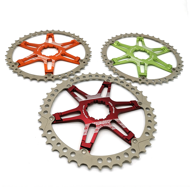 FOURIERS CR-DX008-SK2 Bicycle Chainring MTB Mountain Bike Freewheel Cassette for Shimano 10 Speed Bicycle Parts