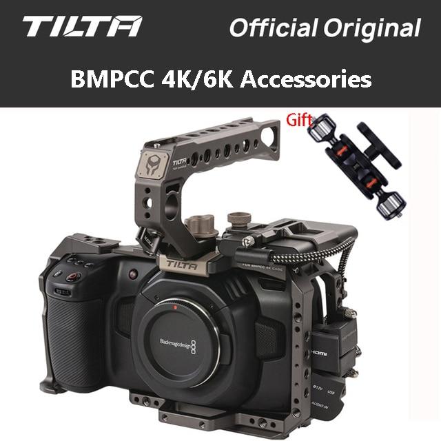 Tilta BMPCC 4 K/6 K Cage TA-T01-B-G support de disque SSD pleine caméra Cage poignée supérieure pour BMPCC 4K caméra Kit de base VS small ring