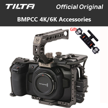 Tilta BMPCC 4K 6K Kamera Käfig TA T01 B G SSD Stick Halter Voller Kamera Käfig Top Griff Grundplatte für BMPCC 4K Kamera Zubehör